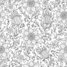 モノクロ花のベクトルの背景 ストックベクター Karpenyuk 106368026