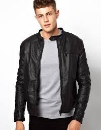 barneys vintage men s black leather asymmetric biker jacket