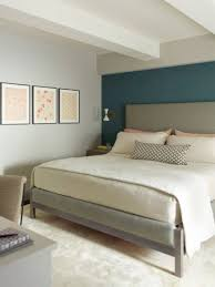 transitional master bedroom. Photo 3 Of 10 Transitional Master Bedroom Idea In New York With Blue Walls ( Dark Teal Home Design