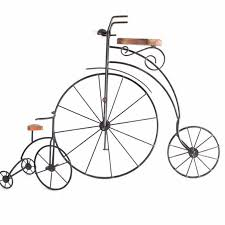 wrought iron bicycle wall art and decor  on iron bike wall decor with basket with wrought iron bicycle wall art and decor ebth