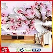 Pink Rose 3d Custom Wallpaper 3d Heart ...