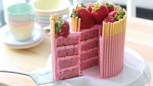 Strawberry Pocky Cake Recipe Tastemade