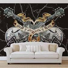 guitar rock roll heavy metal wall mural