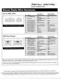 car audio wire diagram codes infiniti nissan factory stereo 2004 Nissan 350Z Bose Radio Wiring Diagram car radio wiring diagram nissan maxima bose audio help reception 5th within 2000