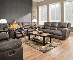 shiloh 50433 grey reclining sofa loveseat set