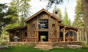 image of gambrel barn house floor plans small