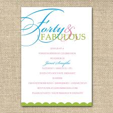 40th birthday invitation wording designs ideas invitations card