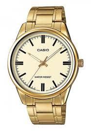 men wristwatch casio mtp v005g 9audf stainless steel gold trendy watch man casio mtp v005g 9audf gold