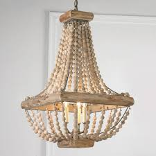three tiered wood beaded chandelier wood bead chandelier beaded