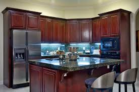 Kitchens With Cherry Cabinets New Kitchen Excellent Small Kitchens With Dark Cabinets Here's A