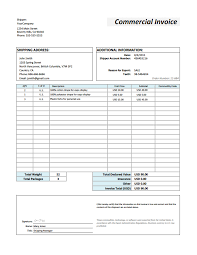 Invoice For Shipping Understanding International Shipping Documentation How To Fill Out