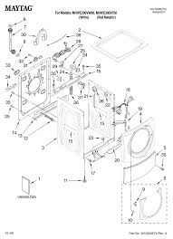 Front load washer parts diagram elegant maytag residential washer parts model mhwe300vw00