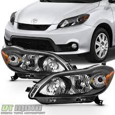 Black 2009-2013 Toyota Matrix Headlights Headlamps Aftermarket 09 ...