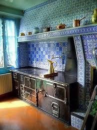 Blue And White Decorative Tiles Claude Monet's Blue and White Decorative Kitchen Back Splash Tiles 96