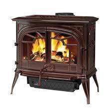 napoleon fireplaces banff series cast iron wood burning stove majolica brown