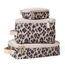 Amazon.com : Itzy Ritzy Packing Cubes - Set of 3 Packing Cubes or Travel  Organizers; Each Cube Features A Mesh Top, Double Zippers & A Fabric  Handle, Leopard : Baby