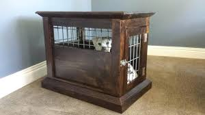 large dog crate end table picture of dog kennel end table dog crate end table diy