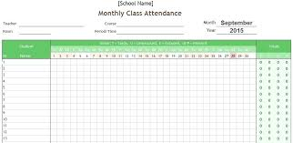 Blank Attendance Sign In Sheet Template Classroom Monthly