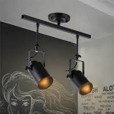 vintage track lighting. Dining Brightness Vintage Track Ceiling Light Fixture, 2-LIGHT Industrial For Living Room, Lighting R