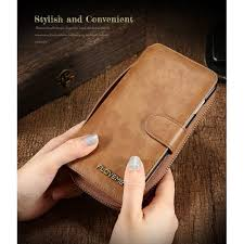this wallet case comes with mirror big zipper pocket cash keys etc flip retro pattern design top quality pu leather more durable