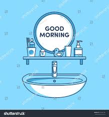 cartoon bathroom sink and mirror. Exellent And Cartoon Bathroom Sink And Mirror Fresh In Luxury Toothpaste Dental Floss  Stock Vector Lovely Of For I
