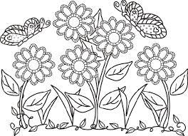 Fiori E Farfalle Da Colorare Idee Green