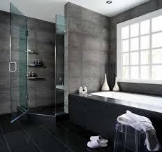gray and black color schemed bathrooms decorating ideas for home office with modern black ceramic floor bathroom office