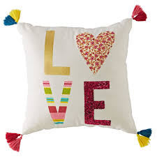 Modern Mosaic Love Pillow