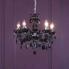 job lot black 5 way ceiling light stylish acrylic chandelier crystal lounge home fitting