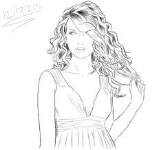 Small Picture Taylor Swift Coloring Pages celebrities coloring pages