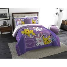 bedspread pokemon lavender chu twin full bedding comforter set for girls kids and sets twinfull
