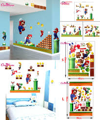 [Visit to Buy] wall stick toy wall sticker removable Decal Cartoon Large  Home decoration Art Nursery Kid Mural with Yoshi Super Mario pattern