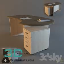 office table models. Brilliant Table Office Tables 14  3D Mili Download Model Free Models  To Table