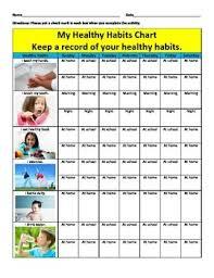 Chart On Healthy Habits Healthy Habits Chart