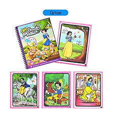 cartoon water coloring book with water pen for kids water activity book paint with water book