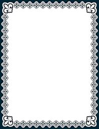 Paper Borders Templates Fleur De Lis Border Borders For Paper Page Borders Frame