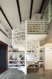 chic industrial brick loft house in