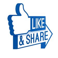 facebook logo like share png transparent background | Png Vectors ...
