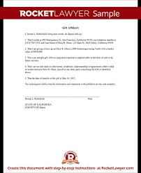 Sample Gift Affidavit Form Template