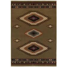 aztec green 4 ft x 6 ft area rug
