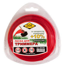 <b>Леска для триммера DDE</b> Speed line 3,0мм *15 м. Звезда ...