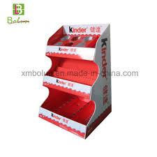 countertop corrugated cardboard display stand for chocolate display rack