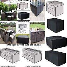 Rattan furniture covers Storage Waterproof Rattan Garden Furniture 1 2 3 4 Seat Sofa Ebay Polyester Garden Patio Furniture Covers Ebay