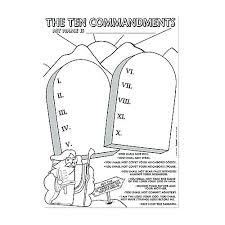 Commandments Coloring Gallery Commandments Commandments Coloring