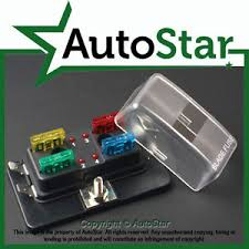 way blade fuse box positive bus in led warning apr atc ato v image is loading 4 way blade fuse box 1 positive bus