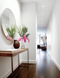 L Modern Entrance Hall Furniture Contemporary With Console Table White  Wall