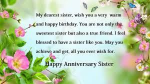 Happy Anniversary Wishes For Sister Sister Anniversary Wishes