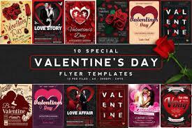 Valentines Flyers 10 Valentines Day Flyers Bundle