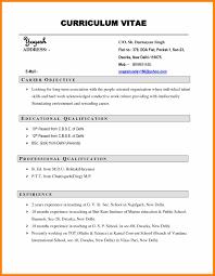 9 Curriculum Vitae Sample Personel Profile