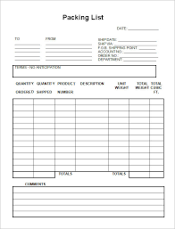 List Template Fascinating Packing List Sample Form Engneeuforicco